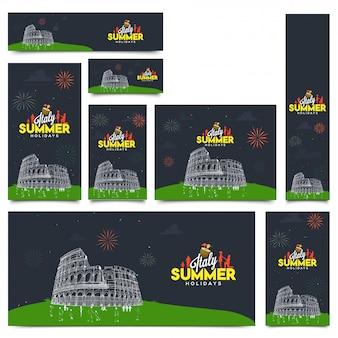 Vacances d'été en italie concept