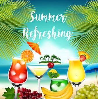 Vacances d'été avec palmier
