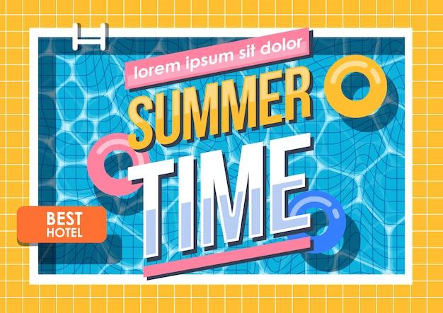 Vacances d'été, piscine