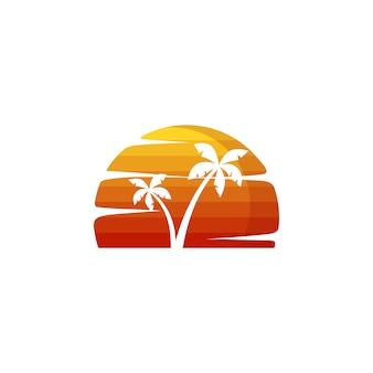 Vacances d'été plage vacances vector art