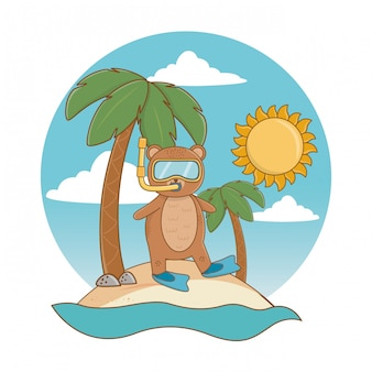 Vacances d'été se détendre dessin animé