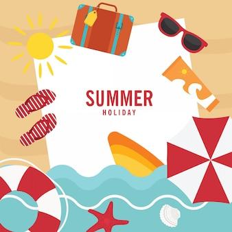 En vacances d'été, vacances d'été sur la plage