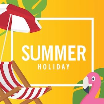 En vacances d'été, welcome summer design