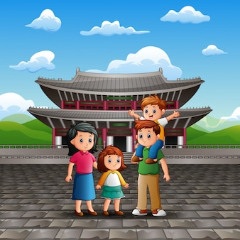 Vacances avec famille au palais changdeokgung