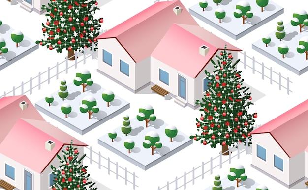 Vacances graphiques de la ville d'hiver de noël