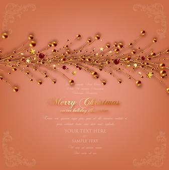 Vacances de noël de motif couronne décorée