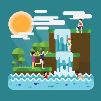 Vacances de printemps avec baignade