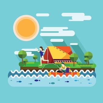 Vacances de printemps avec camping