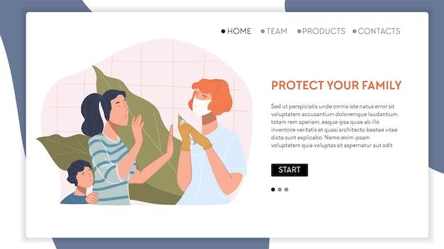 La vaccination contre le covid protégez votre famille