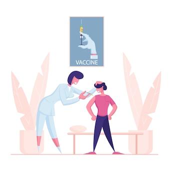 Vaccination des enfants, procédure de vaccination.