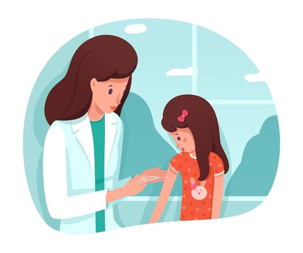 Vaccination préventive des enfants à l'hôpital