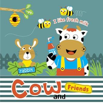 Vache et amis