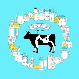 Une vache et une gamme plus large de produits laitiers sains