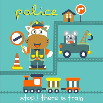 Vaches la police