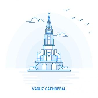 Vaduz cathderal blue landmark