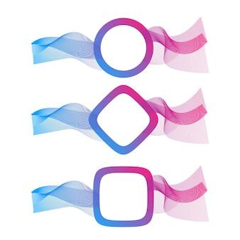 Vague abstraite des nombreuses lignes colorées avec place pour le texte. rayures ondulées isolées sur fond blanc. illustration vectorielle eps10. dessin au trait créatif. éléments de conception créés à l'aide de l'outil de fusion.