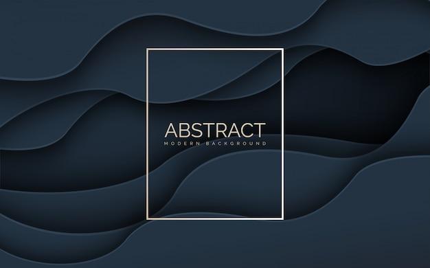 Vague abstraite s avec des lignes rectangulaires blanches.