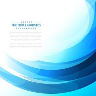Vague bleue abstrait
