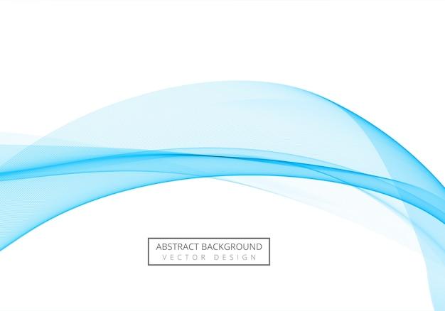 Vague bleue fluide moderne