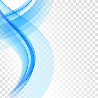 Vague bleue moderne isolé