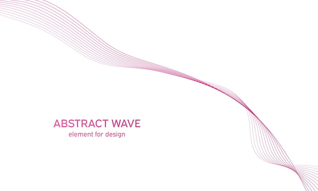 Vague colorée abstraite. vague avec des lignes. ligne ondulée incurvée, rayure lisse