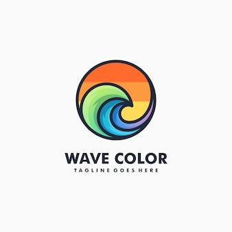 Vague colorée illustration vecteur