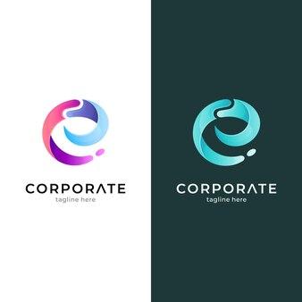 Vague de combinaison de logo de lettre e