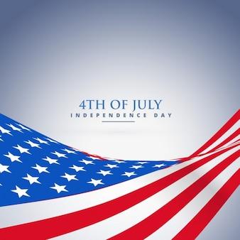 Vague drapeau américain fond