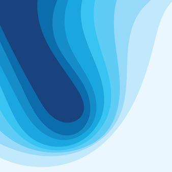 Vague d'eau abstraite vector illustration design background eps10