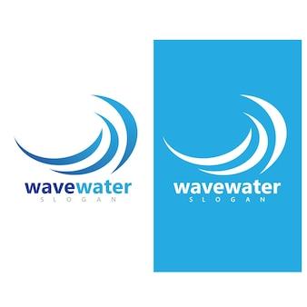 Vague d'eau icône vector illustration design logo