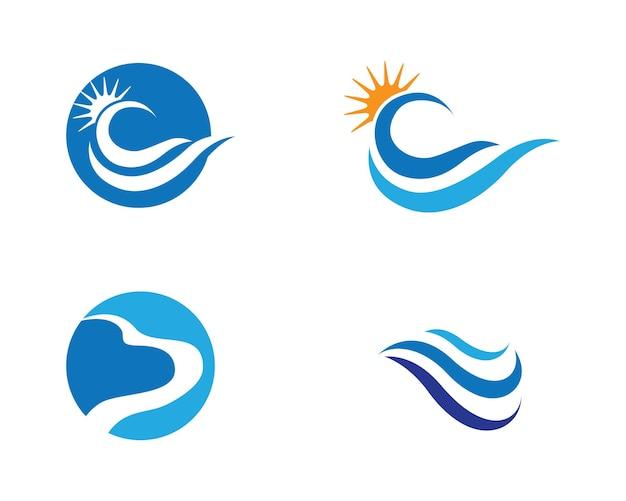 Vague d'eau logo template vector illustration design