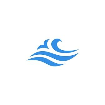 Vague eau mer logo vector icon illustration