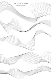 Vague d'élément abstrait pour la conception