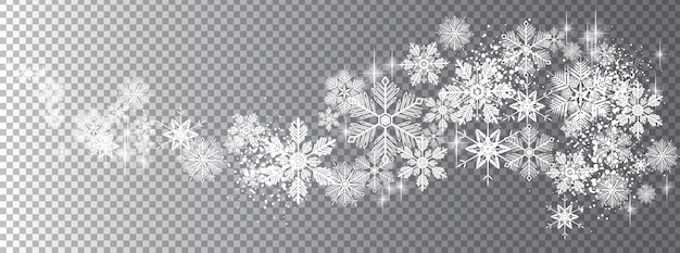 Vague de neige transparente