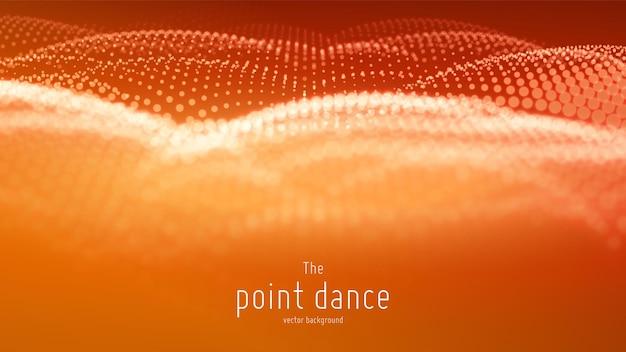 Vague de particules abstraites vectorielles, tableau de points avec une faible profondeur de champ