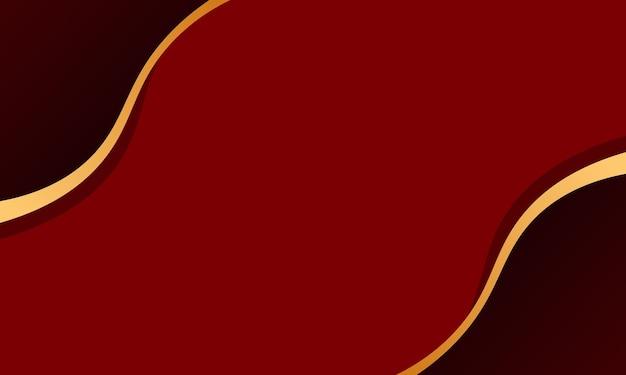 Vague rouge avec fond de ligne or. tout nouveau design pour votre entreprise.