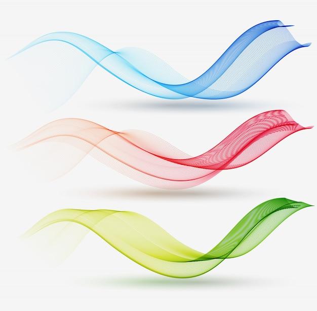 Vague transparente colorée abstraite