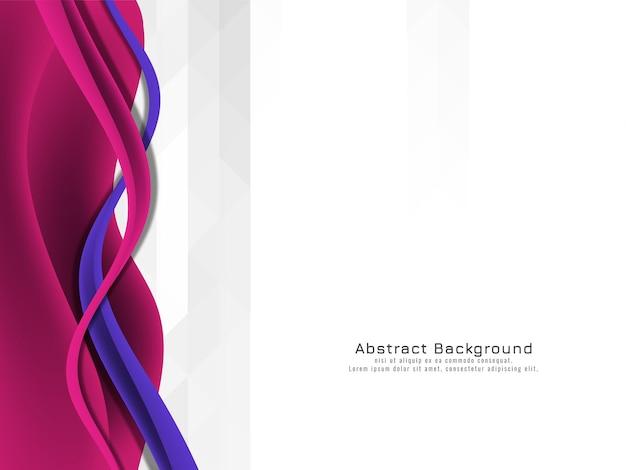 Vague violette abstraite sur fond de mosaïque