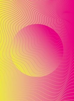 Vagues et formes de fond de couleur rose