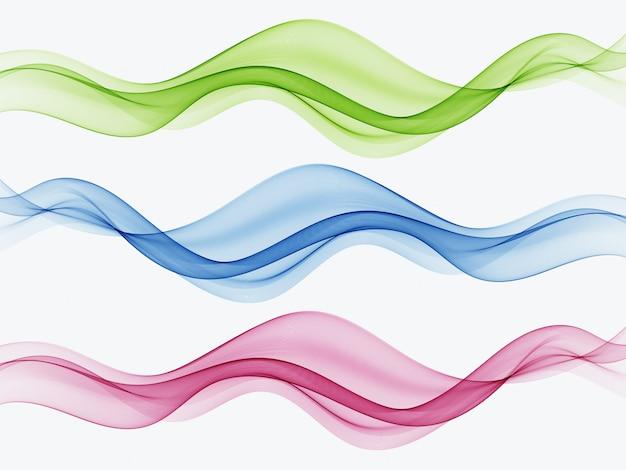 Vagues lisses, claires et belles définies vague abstrait