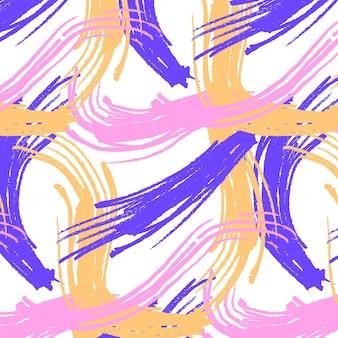 Vagues de motif de coup de pinceau abstrait