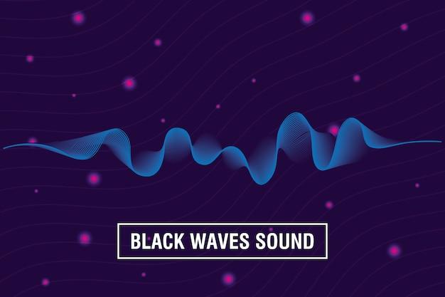 Les vagues noires sonnent sur fond violet