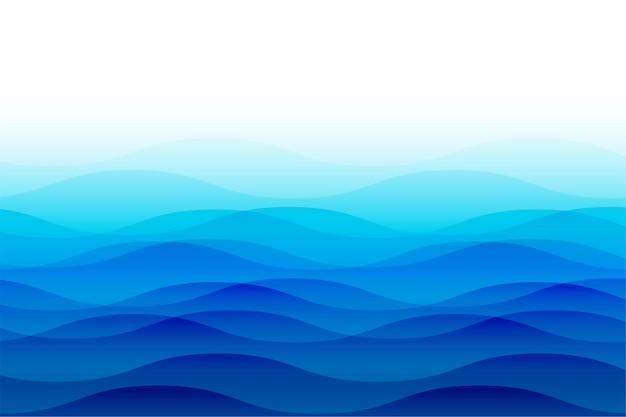 Vagues de l'océan avec ondulations