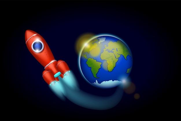 Vaisseau spatial dans l'espace