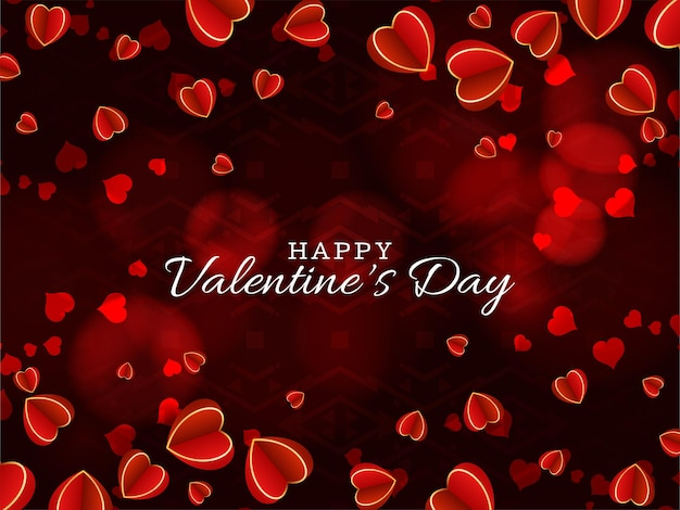 Valentin joli fond avec des coeurs