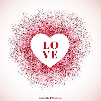 Valentine background avec le coeur