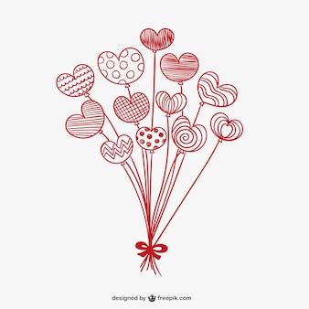 Valentine ballon coeurs
