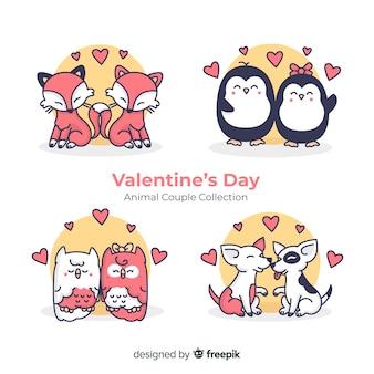 Valentine couple ensemble d'animaux