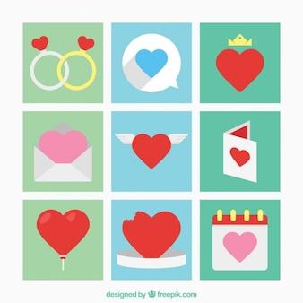 Valentine éléments de jour collection