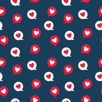 Valentine heart message seamless pattern